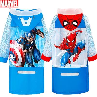 迪士尼(DISNEY)儿童雨衣雨披男童蜘蛛侠带书包位加厚卡通幼儿园小学生雨衣 YJVF86393-T美国队长 XL