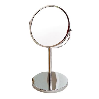 欧润哲(ORANGE) 台式化妆镜双面梳妆镜 立镜反面2倍放大便携式用镜