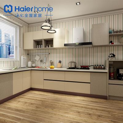 海爾Haierhome 櫥柜定制整體廚柜簡約櫥柜石英石臺面 浪漫情懷