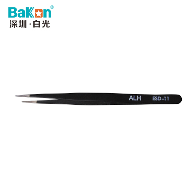 BAKON ESD-11 深圳白光特尖型镊子 不锈钢元器件夹子 夹持类工具
