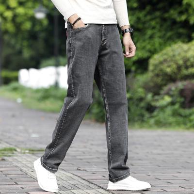 WOWF秋季新款男士牛仔褲直筒彈力寬松時尚潮流舒適休閑潮牌百搭長褲子