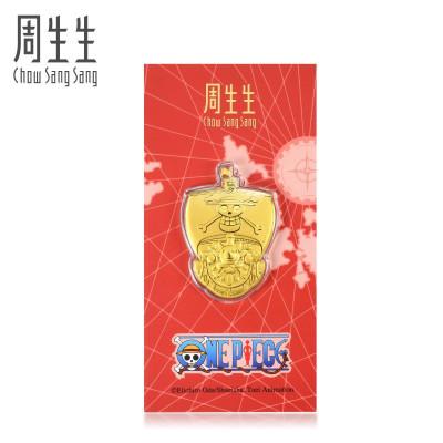周生生(CHOW SANG SANG)Au999.9黃金one piece海賊王萬里陽光號壓歲錢金片91371D