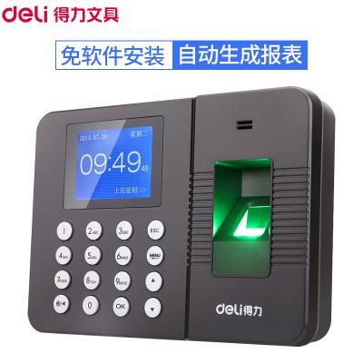 得力(deli)3960 指紋考勤機 指紋式 彩色屏 上班打卡機 簽到機 打卡器 免軟件