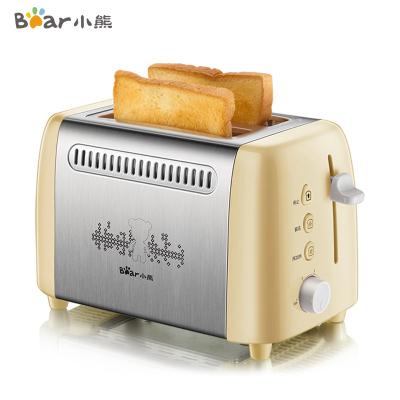 小熊(Bear)多士爐DSL-A02W1 全自動解凍不銹鋼多功能小型烤吐司烤面包機早餐機懶人早餐蘇寧自營