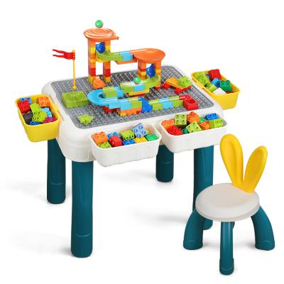 OMKHE 大顆粒積木桌子玩具2-3-5-8歲男女孩玩具兼容樂高益智早教學習桌椅拼插兒童玩具