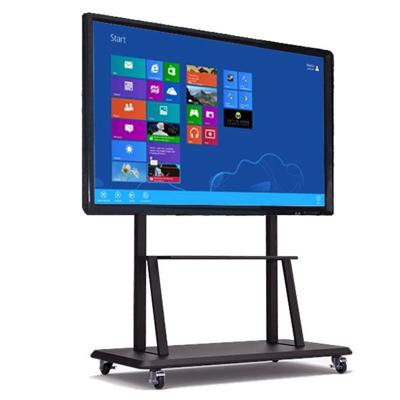 悅華科技 49寸多媒體移動教學會議一體機 觸控屏電子白板4K電視智能會議商業顯示器Windows系統 可定制安卓系統