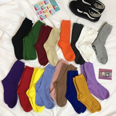 柒十念ins潮長筒襪子女堆堆襪黑色學院風原宿風中筒襪女日系可愛