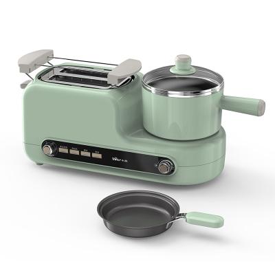 小熊(Bear) 多士爐 DSL-A02H3多功能家用烤面包2片吐司機 煮蛋器蒸蛋煎蛋三合一小型早餐機