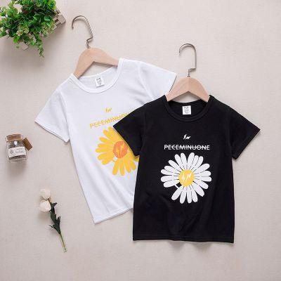 男女兒童短袖T恤小雛菊網紅夏季洋氣親子裝短袖t恤潮流款上衣 TCVV