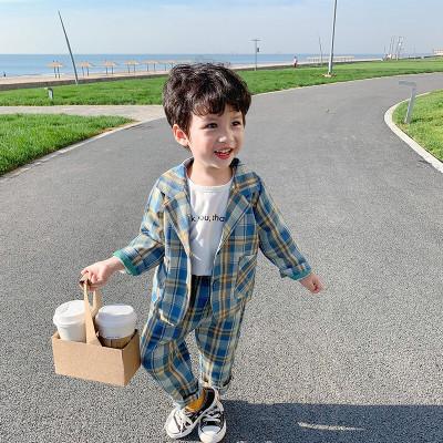 MinanSer男童西裝套裝2020新款寶寶秋裝小孩衣服兩件套3歲童裝春秋兒童西服小童禮服帥氣休閑潮秋季新款