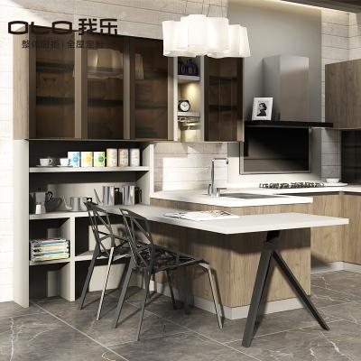 我樂廚柜 現代簡約摩納哥 櫥柜定做整體廚房定制 家用開放式裝修