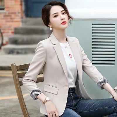 與牧chic網紅小西裝女2020新款秋氣質百搭小香風韓版修身休閑西服外套9551