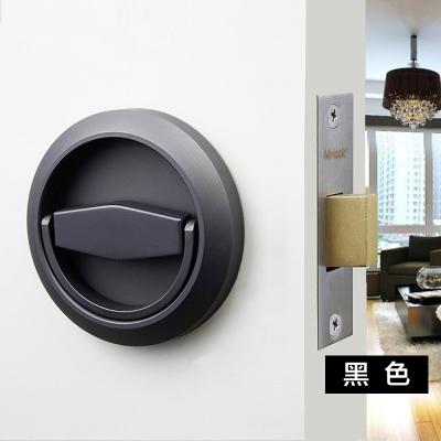 304不锈钢隐形门锁单面双面拉环室内隐藏门锁暗门锁