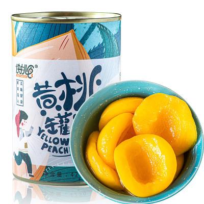 快挑食 新鮮糖水黃桃罐頭 對開速食水果 425克x1罐