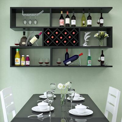 妙旭創意墻上酒柜餐廳紅酒架壁掛置物架現代簡約客廳墻壁架壁掛式酒架