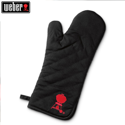 威焙(weber)烧烤防水隔热棉手套微波炉烤箱烘焙加厚耐高温防烫手套