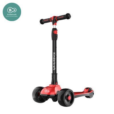 德國KinderKraft兒童滑板車童車踏板車小孩滑滑車兒童車帶閃光輪溜溜車可折疊玩具型號Flash