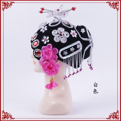 因樂思(YINLESI)京劇青衣俏花旦頭飾 包頭戲曲古裝花旦丫鬟小姐秧歌媒婆旦角頭飾