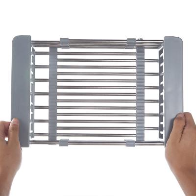 厨房水槽不锈钢沥水篮洗碗池可伸缩洗菜盆沥水架水池滤水篮