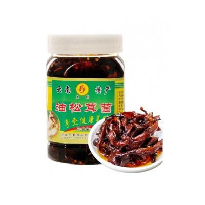 博多客 兰野油松茸菌单罐460g即食蘑菇食用菌风味罐头香麻辣菌菇下饭菜生鲜新鲜