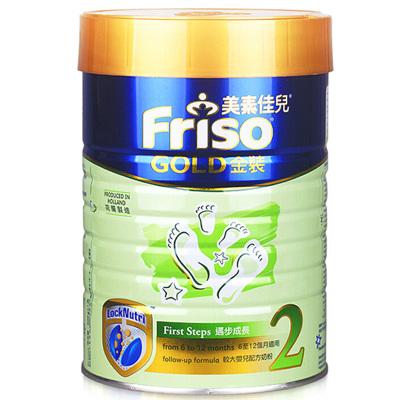 Friso 港版美素佳儿 金装 婴儿配方奶粉 2段(6-12个月) 900g/罐 荷兰原装进口