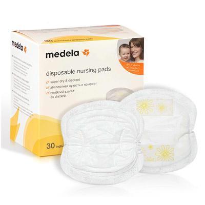 美德樂(medela)一次性防溢乳墊 高吸水性樹脂防滲乳墊一次性 30片裝進口