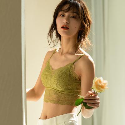 俞兆林春季新品無鋼圈內衣女薄款性感蕾絲美背抹胸法式文胸女聚攏