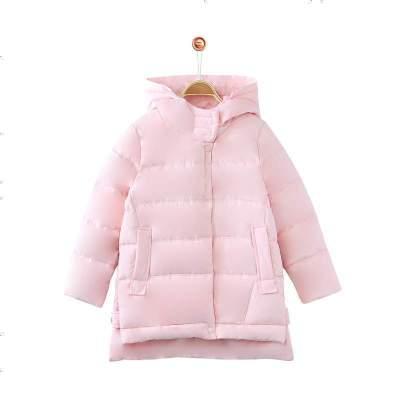 鉛筆俱樂部童裝2020冬季女童羽絨服中大童加厚外套兒童連帽外套