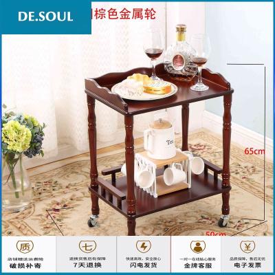 苏宁放心购欧式圆形小茶几沙发边几麻将桌边角几简约棋牌室小桌子实木电话架