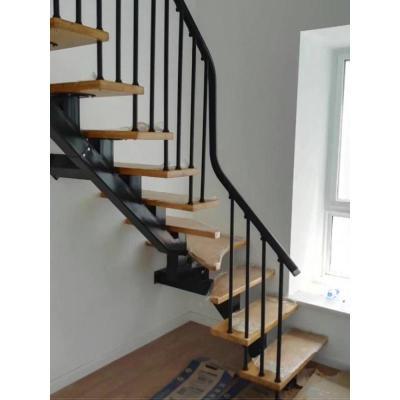 閃電客旋轉樓梯室內閣樓復式閣樓鋼木樓梯家用整體別墅實木loft樓梯定制 套餐四:40mm踏板+優質立柱