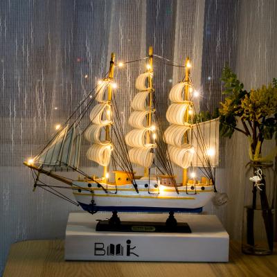 瑞仕兹 工艺礼品木制帆船摆件模型一帆风顺帆船工艺品创意家居客厅玄关装饰品摆件帆船创意小礼品送朋友同学儿童老师教师节礼物