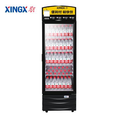 星星(xingx)LSC-368G 368升冰柜商用立式展示柜 便利店飲料冷藏柜 單門保鮮玻璃門 大容量冷柜 節能省電