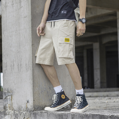 木林森(MULINSEN)男士短裤夏季韩版潮流运动工装宽松薄款纯棉沙滩休闲迷彩五分户外休闲裤