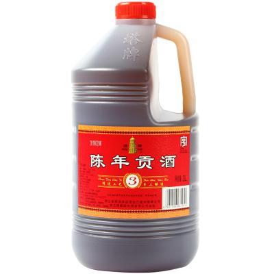 塔牌手工紹興黃酒三年陳年貢酒3L桶裝老酒料酒調味自飲烹飪低糖
