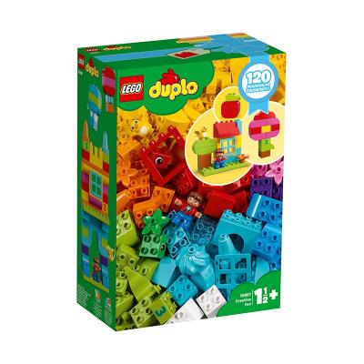LEGO樂高 得寶系列我的自由創意趣玩箱10887拼插積木幼兒園玩具學齡前玩具120顆粒數