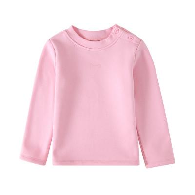 小猪班纳童装女幼童长袖T恤2019秋季女童樽领长袖T恤女宝宝T恤