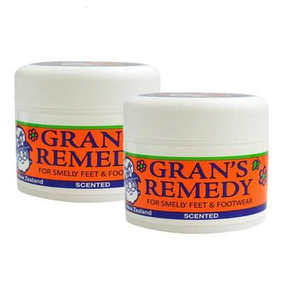 GRAN'S REMEDY 【品牌授权】老奶奶臭脚粉香港脚去膏药粉 泡粉50g 清香味 * 2瓶