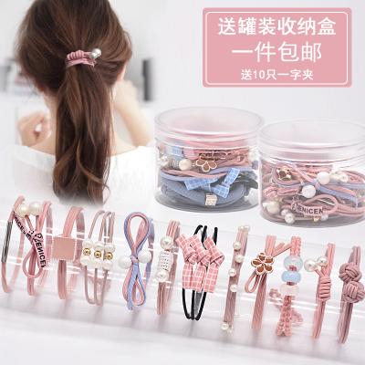 韓國ins發繩發圈簡約小皮套扎頭發頭飾橡皮筋網紅韓版可愛頭繩女