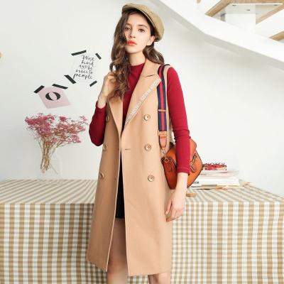 【新品】秋冬女士韩版学生中长款外套羊毛呢子大衣60007015