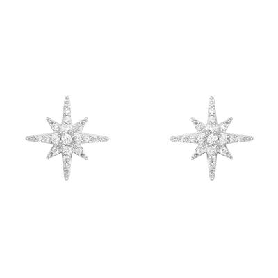 【apm MONACO】周冬雨萬茜同款迷你星星耳釘925銀耳飾鑲晶鉆簡約百搭穿孔耳環女士首飾品周冬雨同款送女友