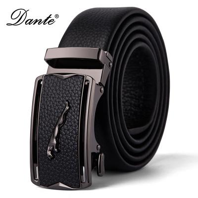 Dante 男士腰帶自動扣頭層牛皮青年商務休閑男士皮帶