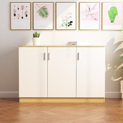 新款板式带门子组装柜子储物柜阳台柜收纳柜鞋柜杂物柜可定做带锁 组装 80高*120宽*40深(四门两层)