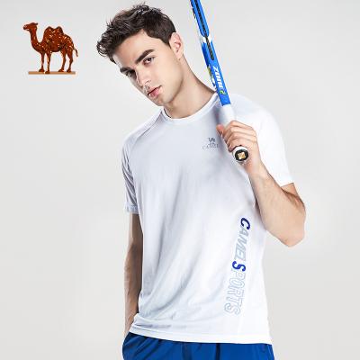 Camel駱駝運動T恤 春夏季休閑時尚百搭男女款短袖 圓領透氣運動訓練上衣