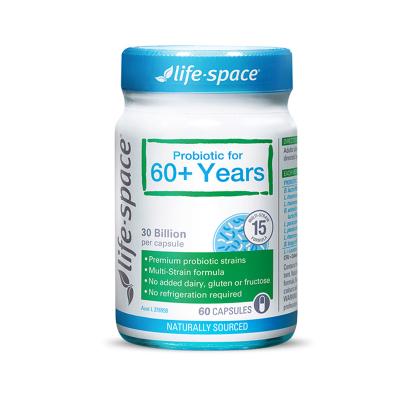 澳洲 Lifespace 60+ 老人益生菌膠囊 60粒 1瓶裝 廣譜高含量 澳大利亞進口
