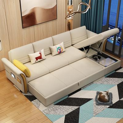 好喜愛 沙發床小戶型可折疊雙人客廳兩用多功能簡約現代組合貴妃布藝沙發