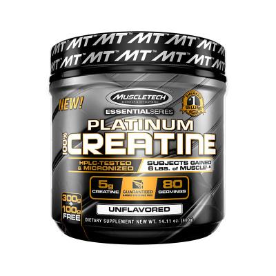 【增加耐力 肌肉爆發力】MUSCLETECH 肌肉科技 白金純肌酸粉 400克/罐 美國進口 氨基酸 其他