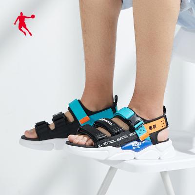 喬丹官方旗艦男涼鞋2020夏季新款潮流鞋子運動涼拖鞋戶外輕便魔術貼沙灘鞋
