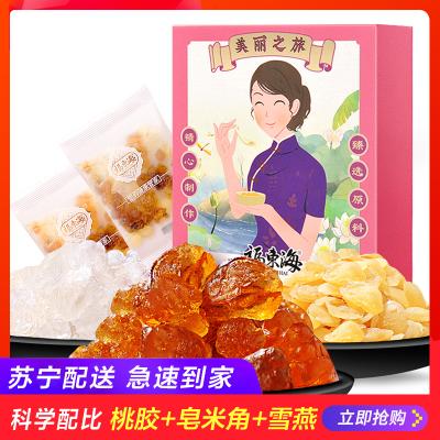 福東海 桃膠 桃花淚 150G克/盒 桃樹膠精選桃膠雪燕皂角米雪燕組合