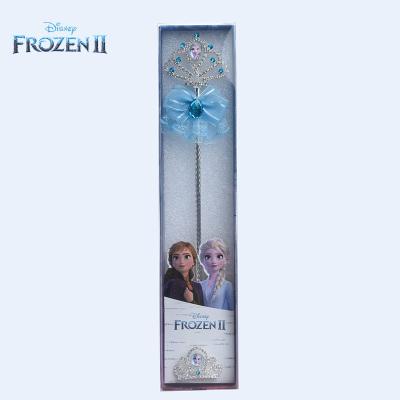 迪士尼正版授權冰雪奇緣2艾莎女王手杖皇冠發飾組合