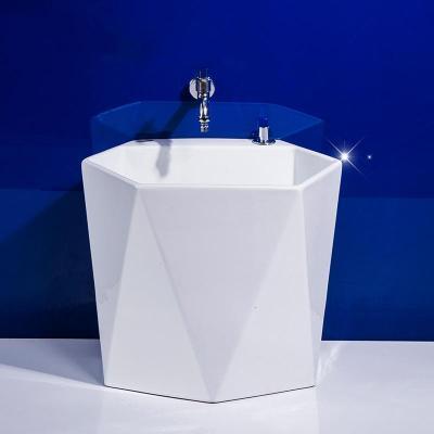 洗地盆拖把池陶瓷大號水池斗納麗雅家用拖把小號落地式陽臺衛生間
